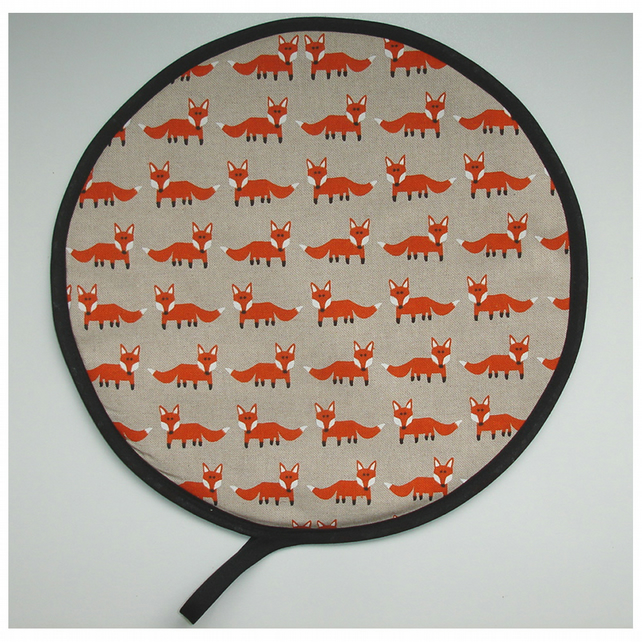 Fox Aga Hob Lid Mat Pad Hat Round Cover Surface Saver Orange Red Foxes