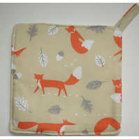 Foxes Pot Holder Potholder Kitchen Grab Mat Pad Fox Acorn Tableware