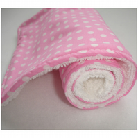 Baby Burp Cloth Pink and White Polka Dots Feeding Shower Gift