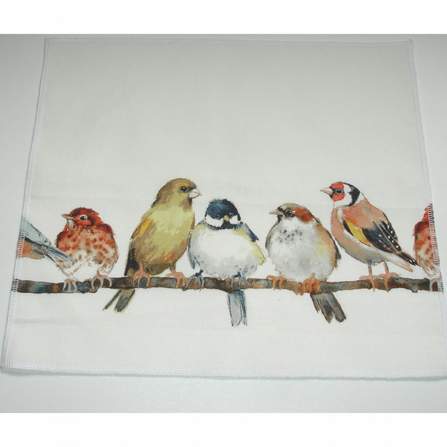 Pack of Four Bird Napkins Laura Ashley Garden Birds Napkin Set 4