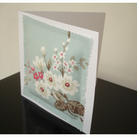 Blossom Blank Greetings Card Notelet