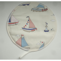 Aga Hob Lid Mat Pad Hat Round Cover Boat Bird Buoy Nautical Seaside