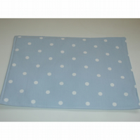 Blue and White Polka Dot Place Mat Placemat