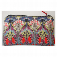 Purse Liberty Fabric Ianthe Red Art Deco Nouveau