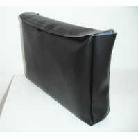 Book Cover Purse Black Faux Leather