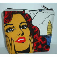 Comic Book Strip Cosmetic Make Up Purse Cosmetics