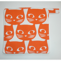 Orange Cats Pot Holder Potholder Kitchen Grab Mat Pad Cat Face