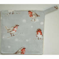 Christmas Pot Holder Potholder Kitchen Grab Mat Pad Xmas Robin Tableware
