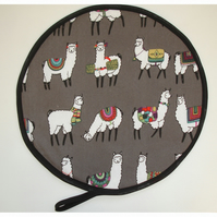 Llama Aga Hob Lid Mat Pad Hat Round Cover With Loop Surface Saver Alpaca