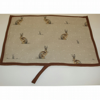 Hare Redfyre Universal Hob Lid Mat Pad Cover Surface Saver Rabbit Brown Hares