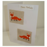 Birthday Card - Fox