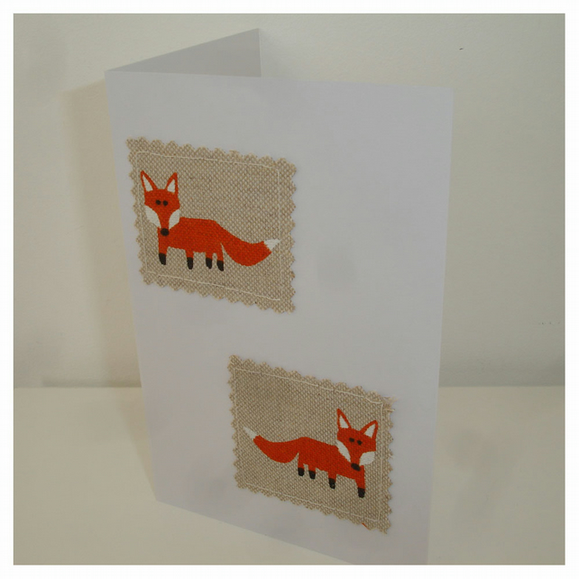 Pack of Four Fox Notelets Blank Cards