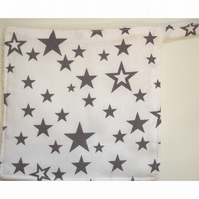Grey Stars Pot Holder Potholder Kitchen Grab Mat Pad Surface Saver Star Baker