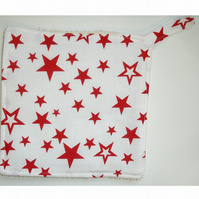 Red Stars Pot Holder Potholder Kitchen Grab Mat Pad Surface Saver Star Cook