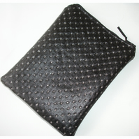 iPad Air 2 Tablet Case Black Faux Leather Silver Bling
