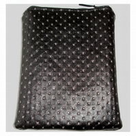 iPad Mini Tablet Case Black Faux Leather Silver Bling