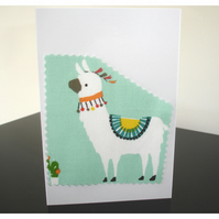 Pack of Two Llama Notelet Cards