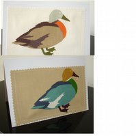 Pack of Two Duck Notelet Cards