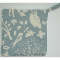 Owl Pot Holder Oven Grab Pad Kitchen Mat Owls Birds Autumn Leaves