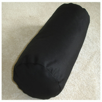 "Yoga Bolster Cushion Cover 20""x10"" Black Round Pillow With Carry Handle"