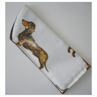 Sausage Dog Spectacles Glasses Case Dachshund Dogs
