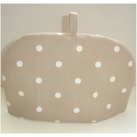 Tea Cosy For A Small Teapot Beige and White Polka Dot