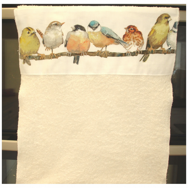 Roller Towel Rolling Kitchen Tea Towel Laura Ashley Garden Birds