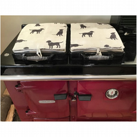 Pair of Dog Rayburn 600 Hob Lid Mat Covers 2 x Labrador Cover