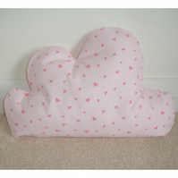 Cloud Cushion Laura Ashley Pink Hearts Nursery Baby Girl