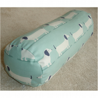 "Dachshund Bolster Cushion Cover 16""x6"" Round Cylinder Neck Roll Pillow"