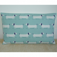 "Tempur Travel Pillow Cover Dachshund 16""x10"" 16x10 Sausage Dog Blue"