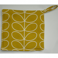 Pot Holder Potholder Grab Mat Kitchen Cookware Pad Mustard Yellow Stem Leaves