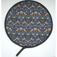 Aga Hob Lid Mat Pad Hat Round Cover With Loop William Morris Strawberry Thief