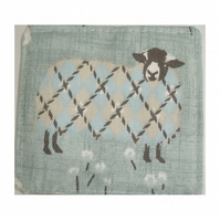 Sheep Fabric Coaster Coasters
