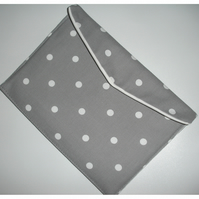 iPad Case Cover Sleeve Air 2 Polka Dot Grey and White