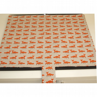 Mat Pad Cover Everhot 60 Range Orange Foxes
