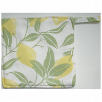 Laura Ashley Fabric Pot Holder Potholder Grab Pad Lemons