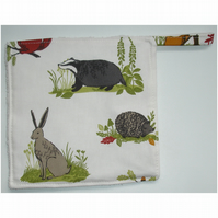 Pot Holder Potholder Grab Pad Hare Badger Hedgehog