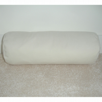 "Yoga Bolster Cushion Cover 20""x10"" Cream Round Pillow With Carry Handle"