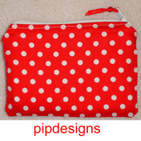 Red & White Polka Dot Coin Purse