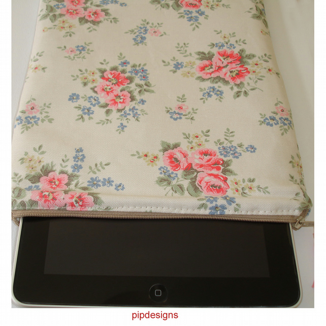 Cath Kidston Pinny Flowers Stone Fabric iPad or iPad 2 Case