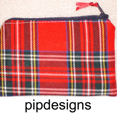 Red Tartan Coin Purse