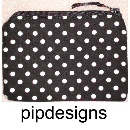 Black & White Polka Dot Purse