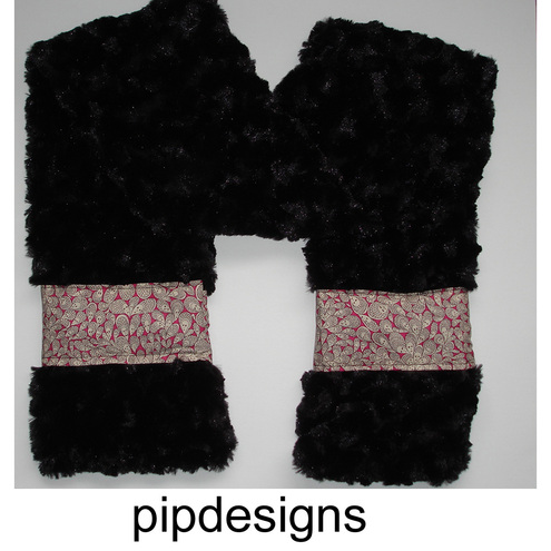 Liberty Fabric Trimmed Fluffy Scarf Grayson Perry Design