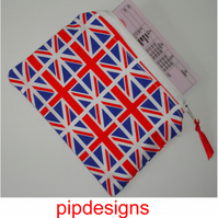 Red White and Blue Union Jack Flag Zipped Coin Purse