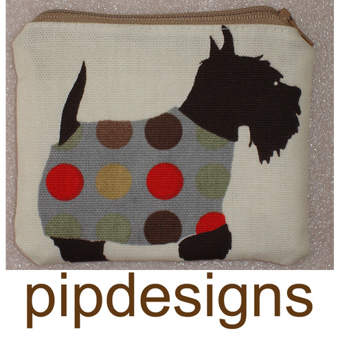 Zipped Coin Purse Scottie Aberdeen Terrier Dog