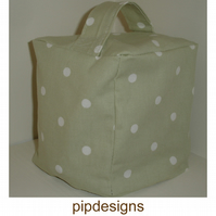 Sage Green Polka Dot Dots Door Stop Doorstop
