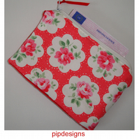 Cath Kidston Provence Rose Red Fabric Purse