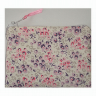 Laura Ashley Tallulah Foxglove Pink and Purple Fabric Coin Purse