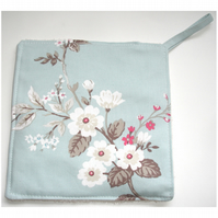 Pot Holder Potholder Kitchen Grab Mat Pad Surface Saver Cook Blue Blossom